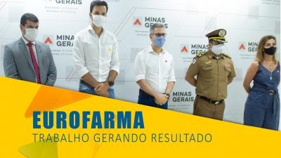 Tadeuzinho visita obras da Eurofarma com governador Romeu Zema